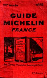 La primera edición de la Guía Michelín