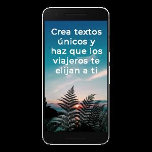 textos únicos para que el viajero te elija a ti